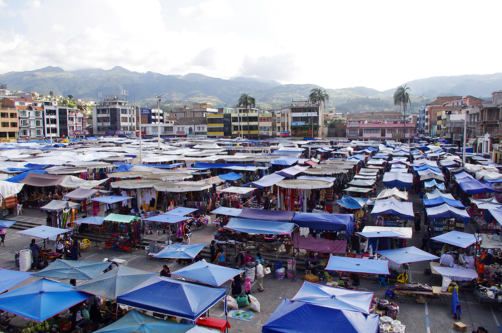 Overview of Otavalo Market