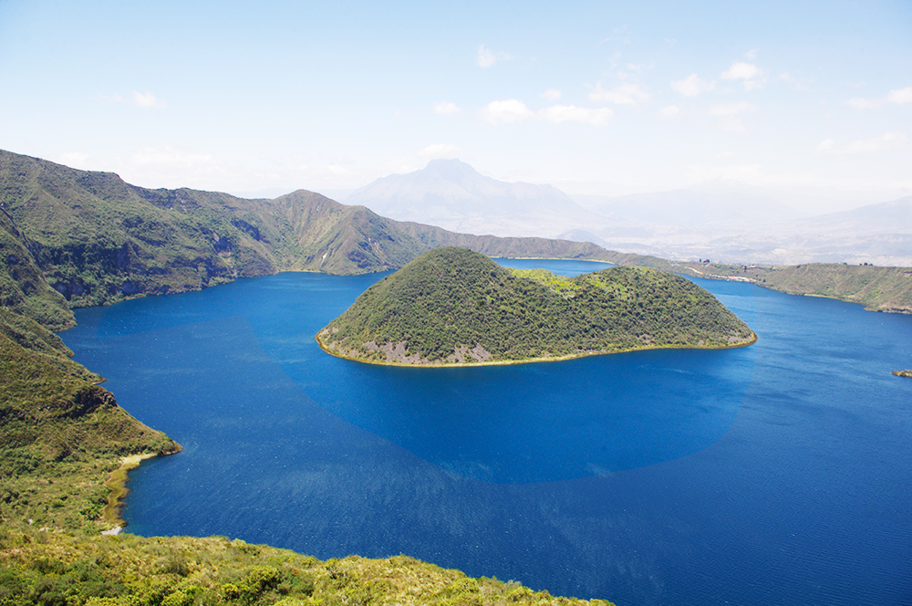 View of the Cuicocha Lake