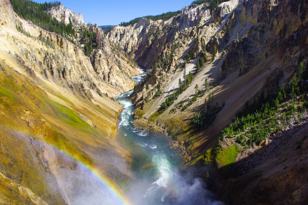 Heavenly beautiful mountain view in Yellowstone National Park