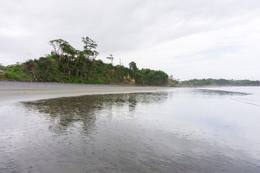 Black sand beach in Mompiche
