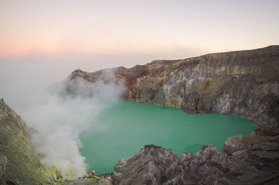 The Crater Lake of Mount Ijen