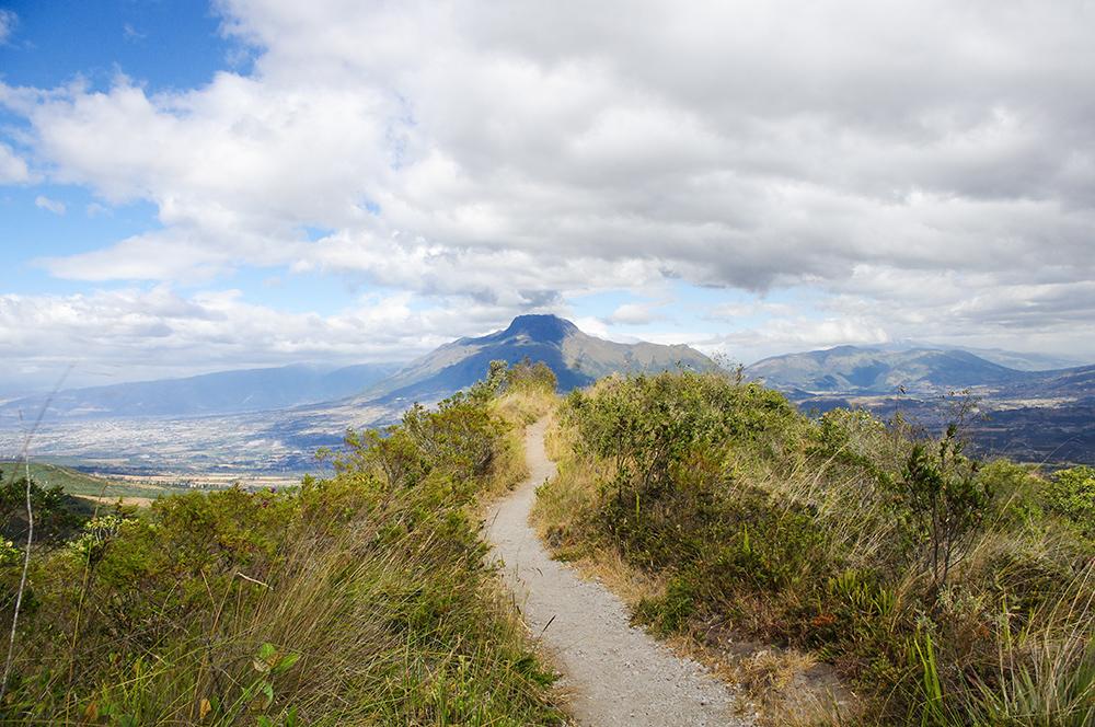 Hiking Trail around Laguna Cuicocha
