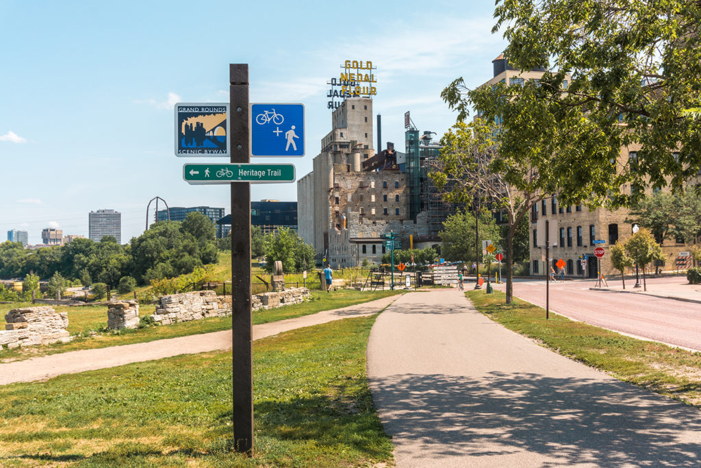 Visit the Ruins Park in Minneapolis