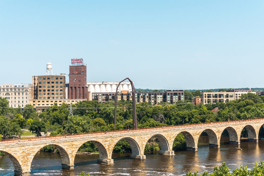 Climb up the Guthrie Theater in Minneapolis