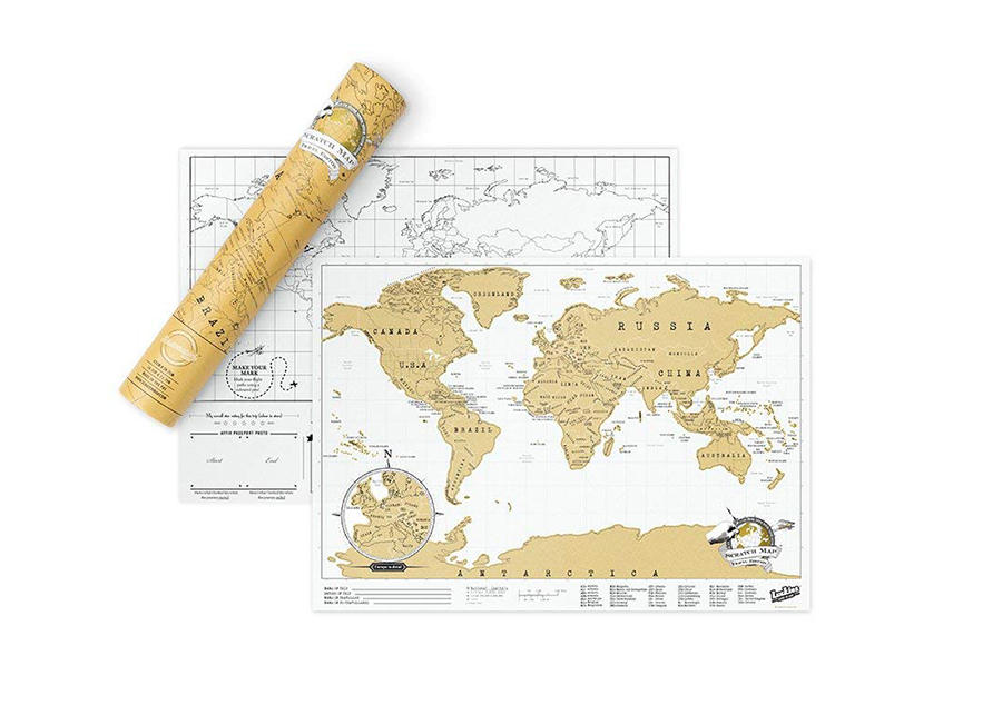 Christmas travel gift guide: world map.
