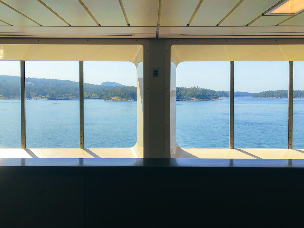 Ferry from Vancouver to Victoria.