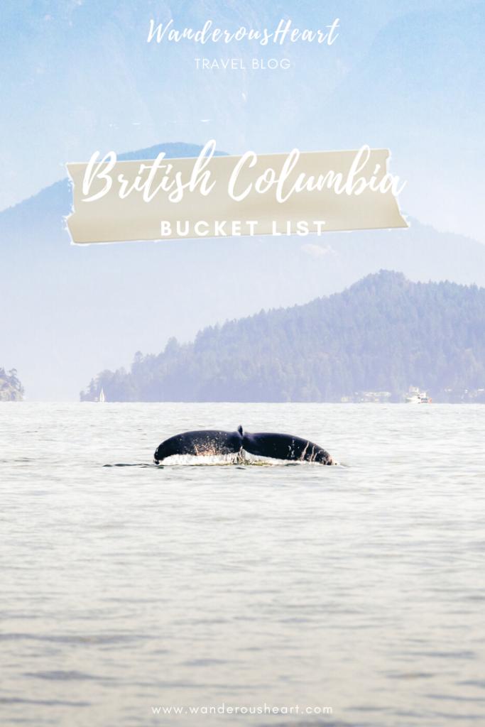 British Columbia Bucket List