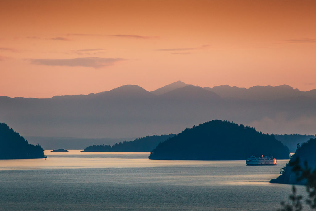 Islands around Vancouver, British Columbia.