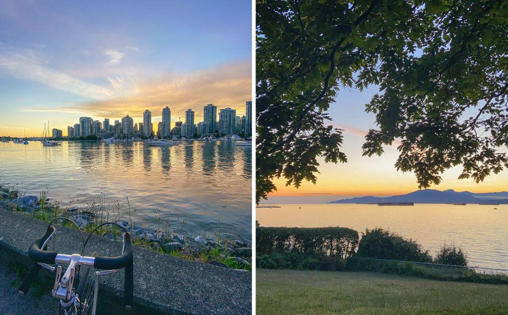 Biking along the Seawall in Vancouver