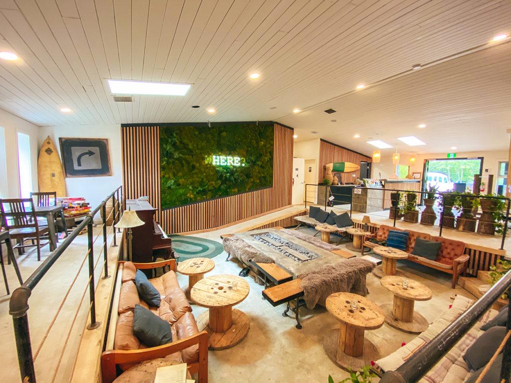 Mackenzie Beach Resort lounge room.